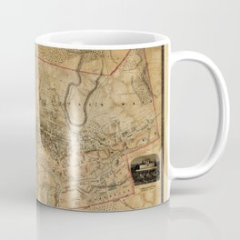 Map Of Dundas 1851 Coffee Mug