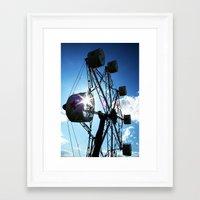 ferris wheel Framed Art Prints featuring Ferris Wheel by MSG Imaging