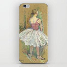 """Henri de Toulouse-Lautrec """"Danseuse en pied. Vue de dos (Standing dancer. Back vue)"""" iPhone Skin"""