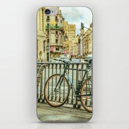 Gran Via Street, Madrid, Spain iPhone Skin