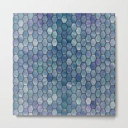 Glitter Tiles VI Metal Print