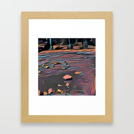Rocks and the Duck Framed Art Print