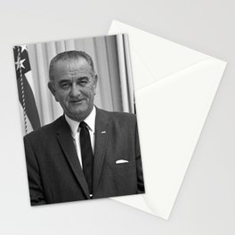 President Lyndon Johnson Stationery Cards