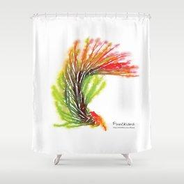 Tillandsia Funckiana Air Plant Watercolors Shower Curtain