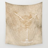 cocktail Wall Tapestries featuring Cocktail hour by Wendy Townrow