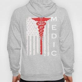 American Flag Ambulance Paramedic Gift Design Hoody