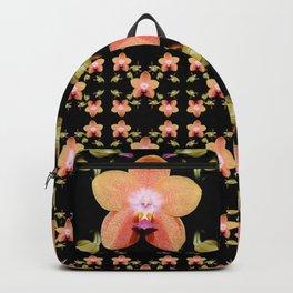 Magenta Peach Phalaenopsis Orchid Pattern Backpack