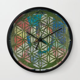 The Tree in The Flower Of Life Wall Clock