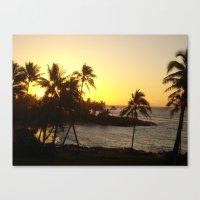 hawaii Canvas Prints featuring hawaii by melanielaurene