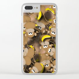Monkeys And Bananas Clear iPhone Case