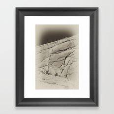 Yosemite Half Dome Hikers Framed Art Print