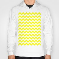 chevron Hoodies featuring Chevron (Yellow/White) by 10813 Apparel