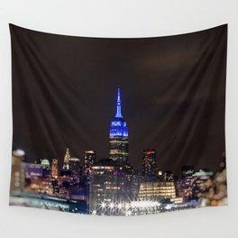 Midtown Manhattan at Night Wall Tapestry