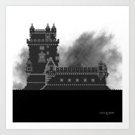 HexArchi - Portugal, Lisboa, Torre de Belém Art Print
