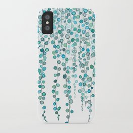 String Of Pearls plants watercolor 2 iPhone Case
