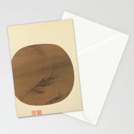 South Songliang Kai Chak map River Chant round fan Poet Strolling by A marshy Bank ,early 13th centu Stationery Cards