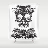 ghost Shower Curtains featuring Ghost by kartalpaf