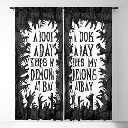 A Book A Day Keeps My Demons At Bay Blackout Curtain