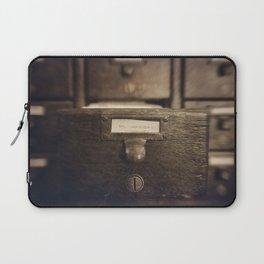 Card Catalog Laptop Sleeve