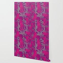 Colorful PINK Flowers Wallpaper design Wallpaper