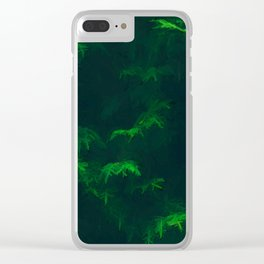 Misty Pines Clear iPhone Case