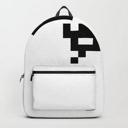 Alien Raider (black): 8-bit with joint pixels UFO No. 8-6-3-5 Backpack