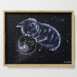 Space cat Serving Tray
