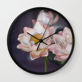 Lovely Water Lily II Wall Clock