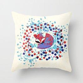 Berry fox - nostalgic Throw Pillow