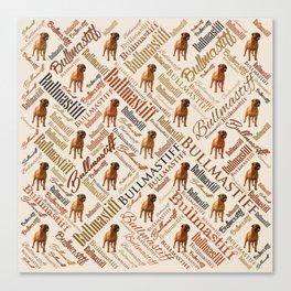 Bullmastiff Word Art Canvas Print