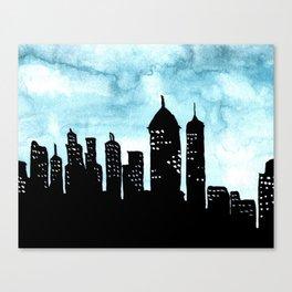 Cityscape Watercolor Painting Canvas Print