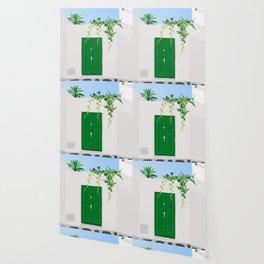 Green Door Wallpaper