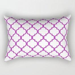 Moroccan Trellis (Purple & White Pattern) Rectangular Pillow