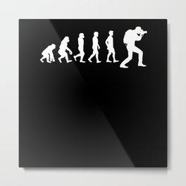 Evolution Photographer Metal Print