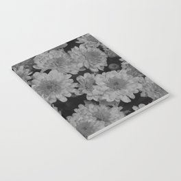 Black and White Flowers Notebook