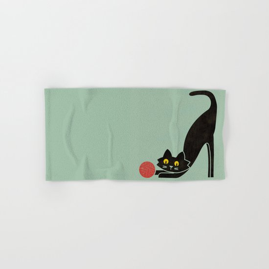 Fitz - the curious cat Hand & Bath Towel