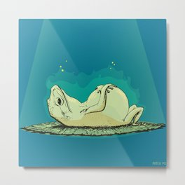 relaxed frog Metal Print