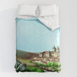 Viseu landscape Comforters