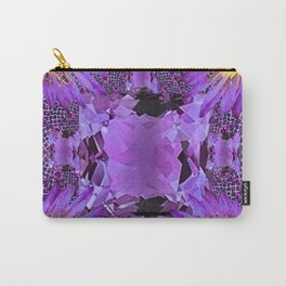 EXOTIC AMETHYST FEBRUARY  FLORAL FANTASY  ABSTRACT Carry-All Pouch