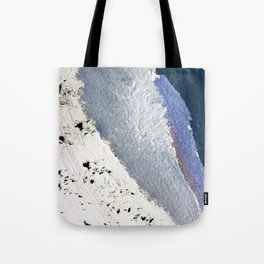 Delicate: a simple, elegant abstract piece in blues, black and white Tote Bag