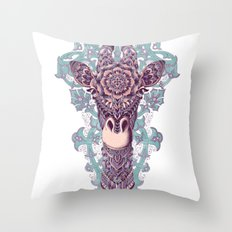 Giraffe (Color Version) Throw Pillow