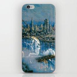 Window Reflection 002 (Horses/Golden Gate) iPhone Skin
