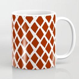 Rhombus Red And White Coffee Mug
