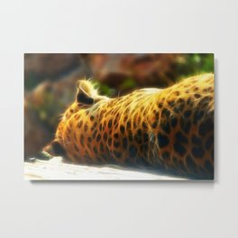 Cheetah fractal animal Metal Print