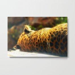 Cheetah fractal animal Metal Print