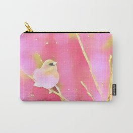Junco Pink Yellow by CheyAnne Sexton Carry-All Pouch