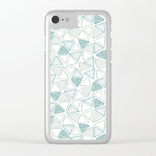 Triangular Pattern Clear iPhone Case