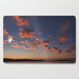 Puffy, pink Puget Sound sunset Cutting Board