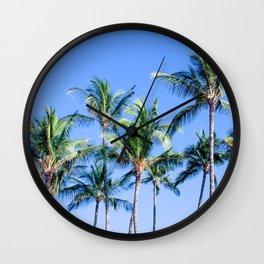 Palms in Living Harmony Wall Clock