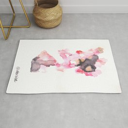 Watercolor Pink Black Flow | [dec-connect] 3. pretense Rug